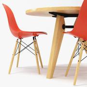 Vitra DSW Chair & Gueridon Table 3d model