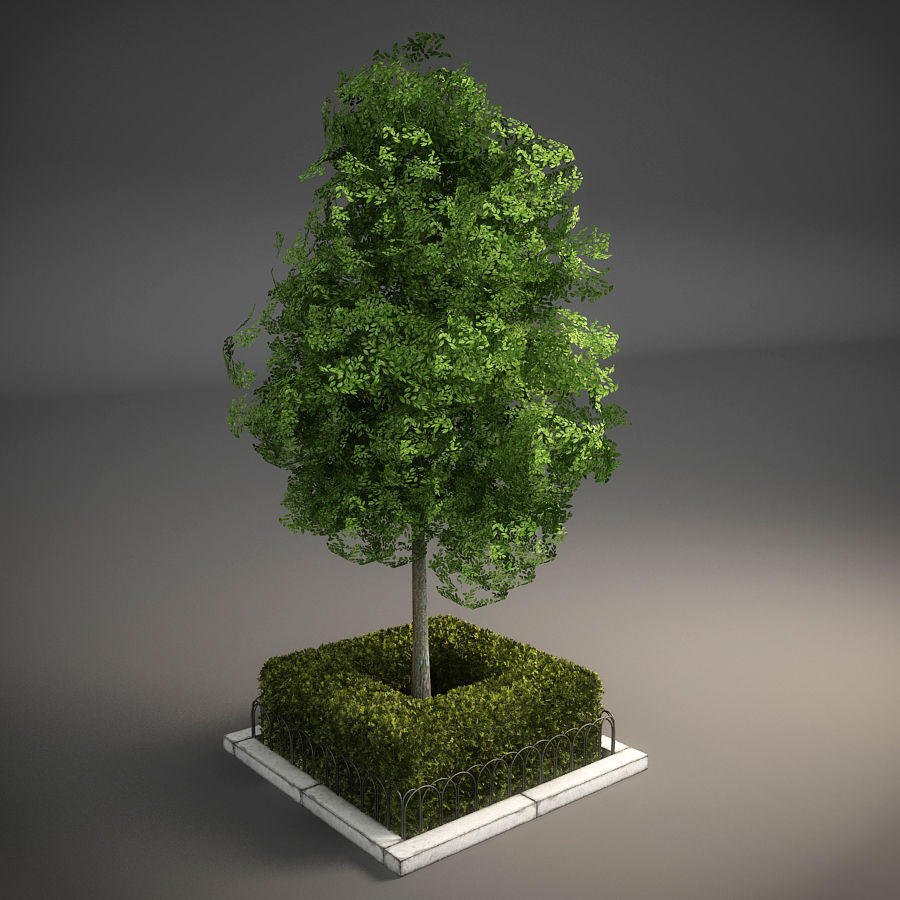 Planteur d'arbres de rue royalty-free 3d model - Preview no. 4