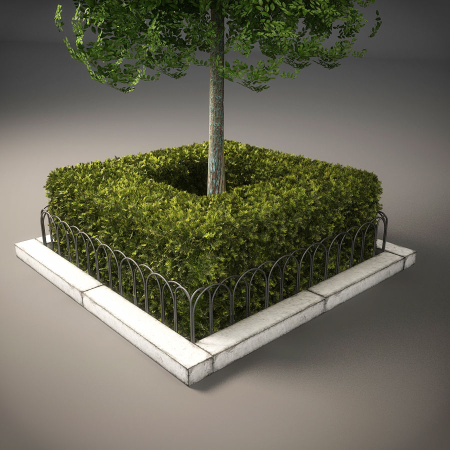 Planteur d'arbres de rue royalty-free 3d model - Preview no. 5