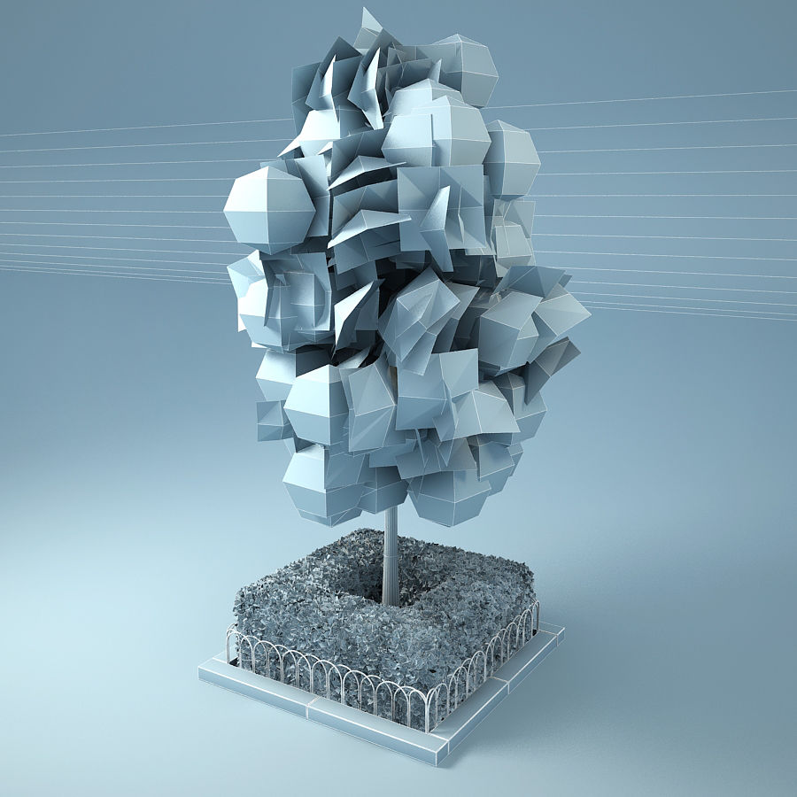 Planteur d'arbres de rue royalty-free 3d model - Preview no. 8