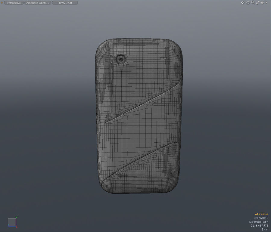 HTC Sensation 4G T-Mobile Smart Phone royalty-free 3d model - Preview no. 13