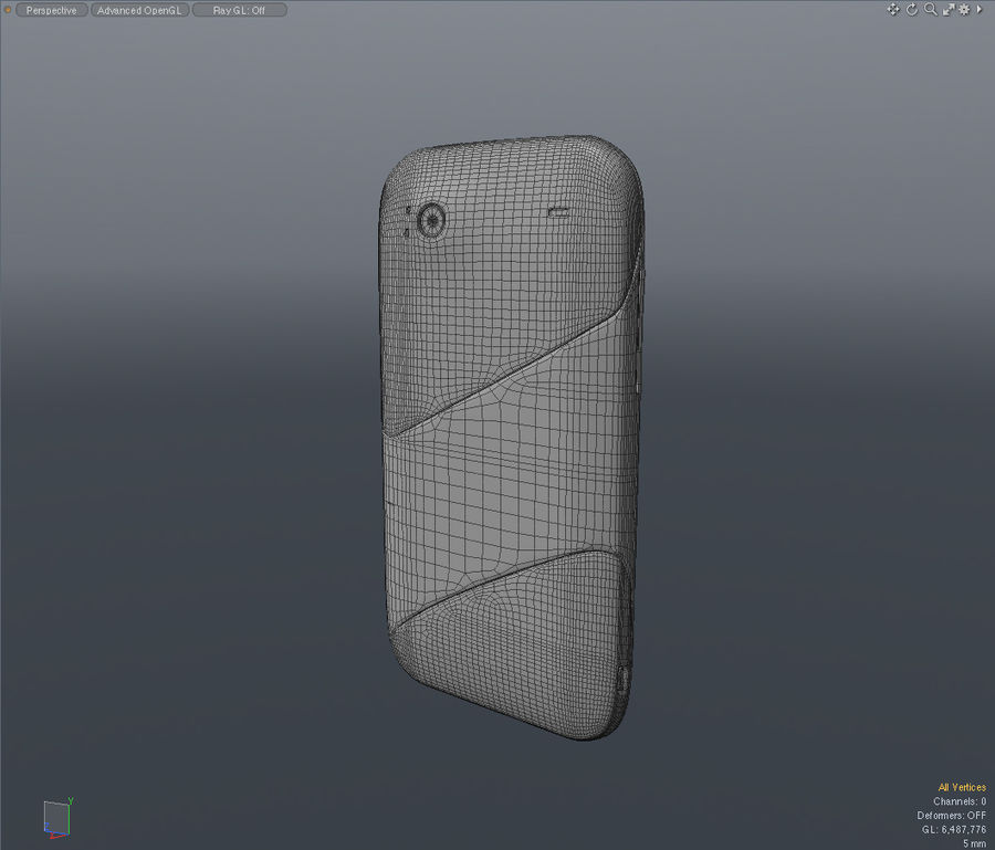 HTC Sensation 4G T-Mobile Smart Phone royalty-free 3d model - Preview no. 14