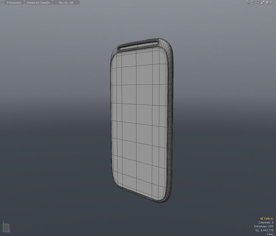 HTC Sensation 4G T-Mobile Smart Phone royalty-free 3d model - Preview no. 12