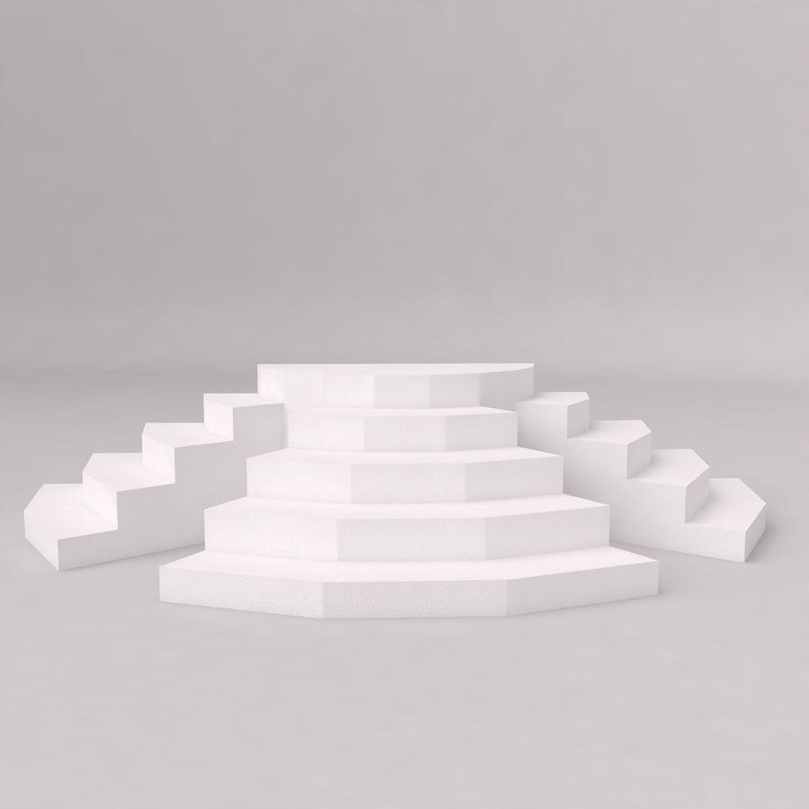 Flera trappor royalty-free 3d model - Preview no. 2