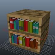 本棚 3d model