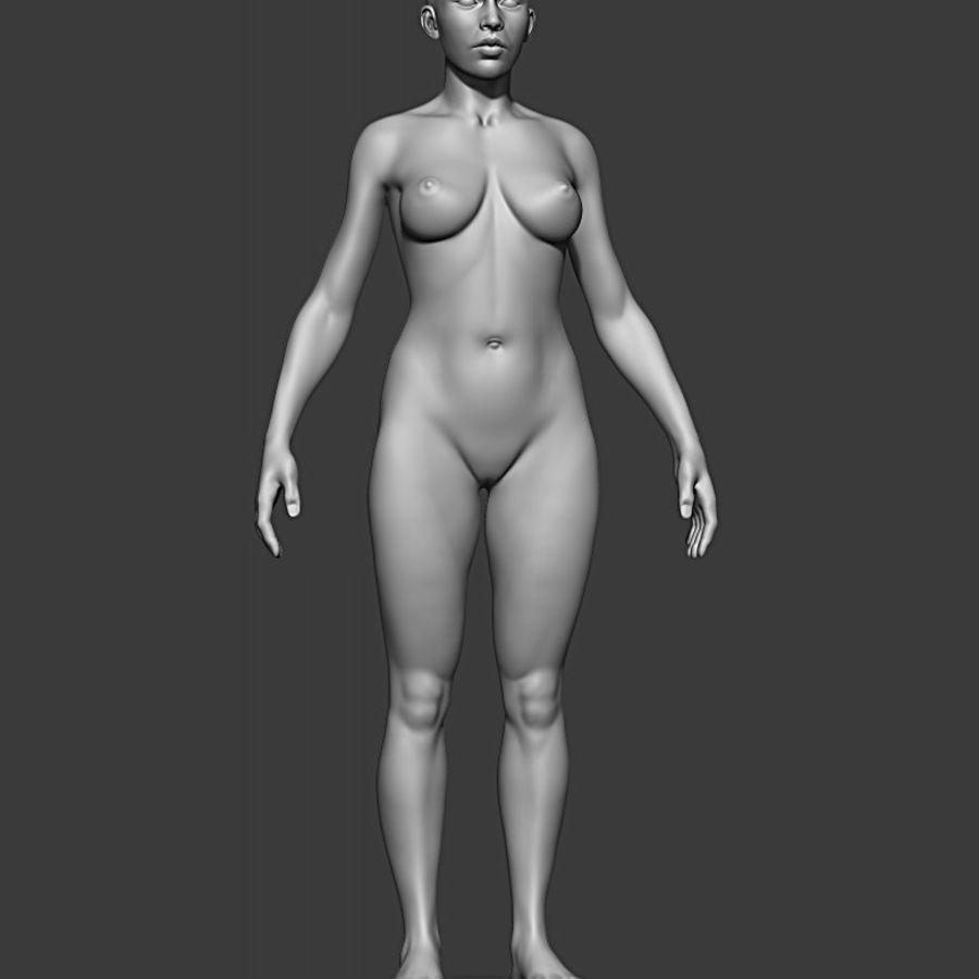 Siatka podstawowa męska / żeńska do produkcji royalty-free 3d model - Preview no. 3