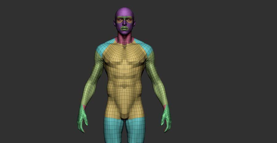 Siatka podstawowa męska / żeńska do produkcji royalty-free 3d model - Preview no. 5