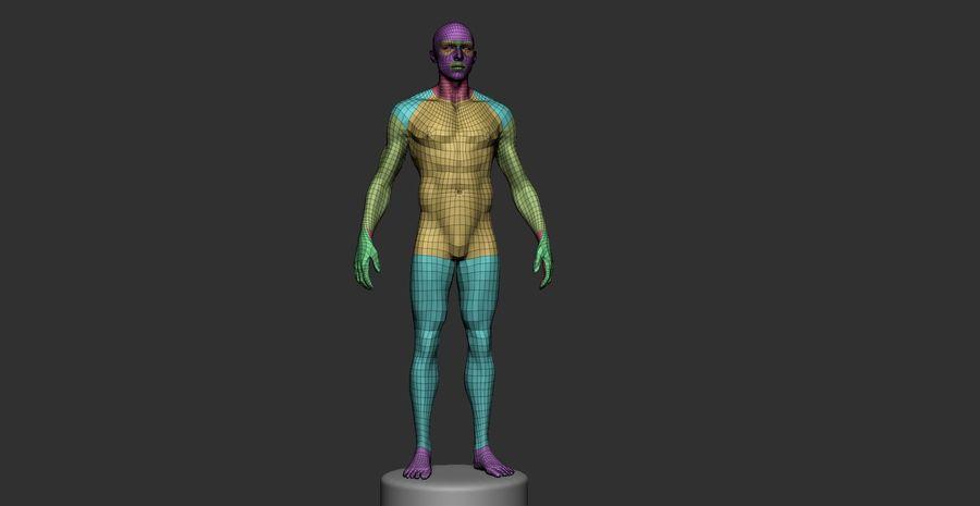 Siatka podstawowa męska / żeńska do produkcji royalty-free 3d model - Preview no. 4