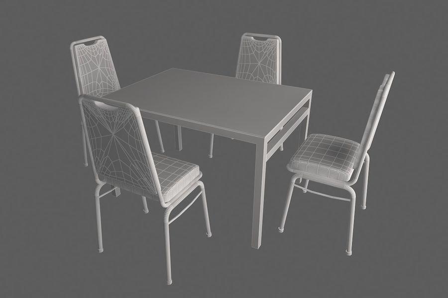 Proste meble do kawiarni royalty-free 3d model - Preview no. 7