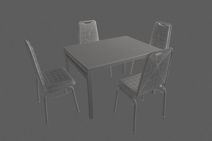 Proste meble do kawiarni royalty-free 3d model - Preview no. 8