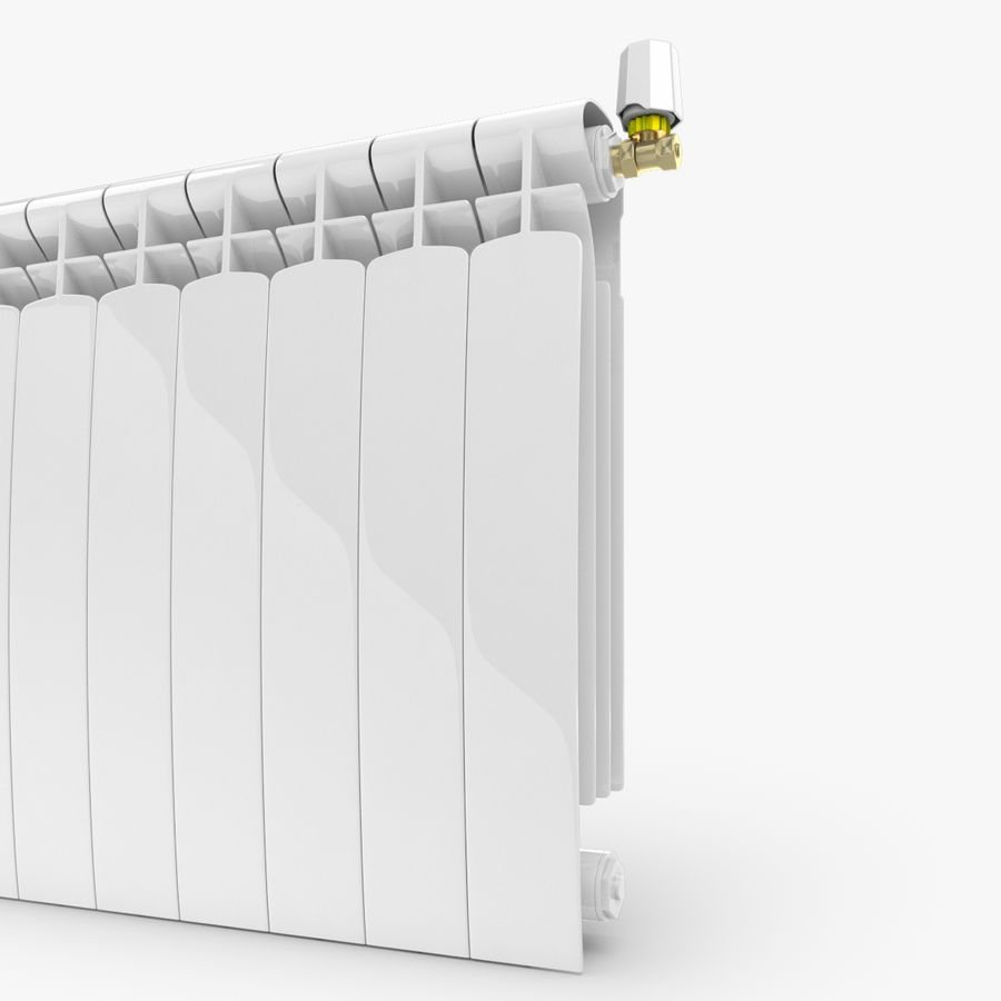 Modern Radyatör 2 royalty-free 3d model - Preview no. 3