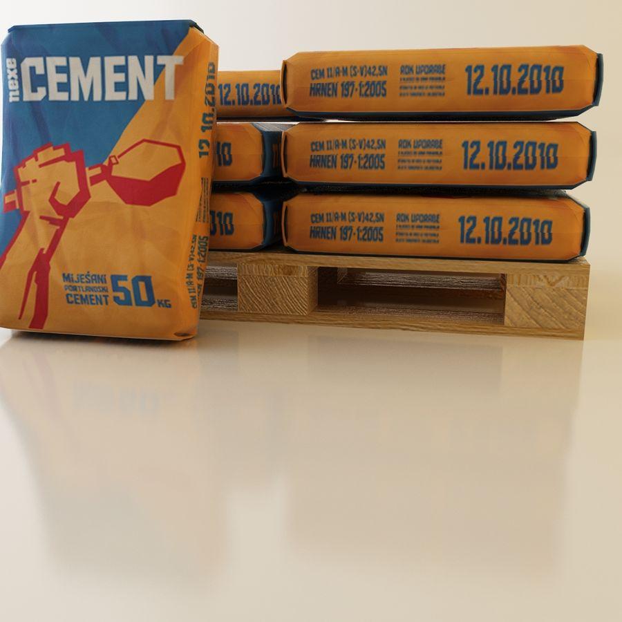 Sacchi di cemento su pallet royalty-free 3d model - Preview no. 6