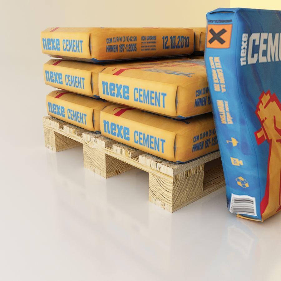 Sacchi di cemento su pallet royalty-free 3d model - Preview no. 7