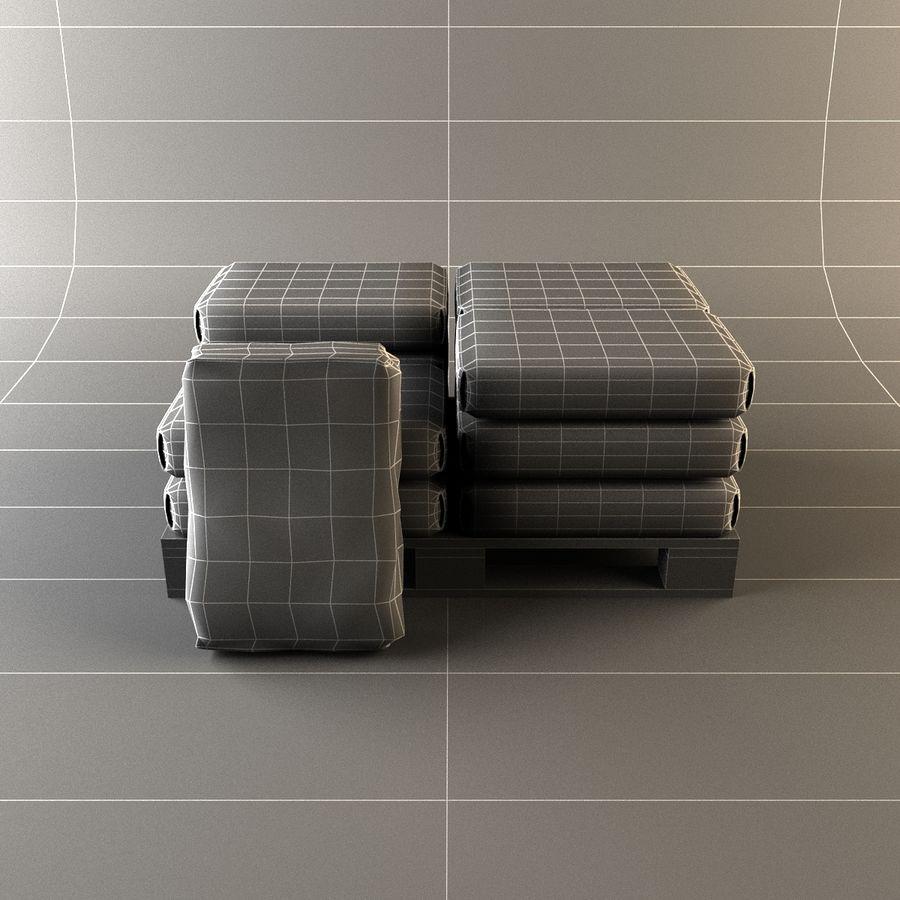 Sacchi di cemento su pallet royalty-free 3d model - Preview no. 11