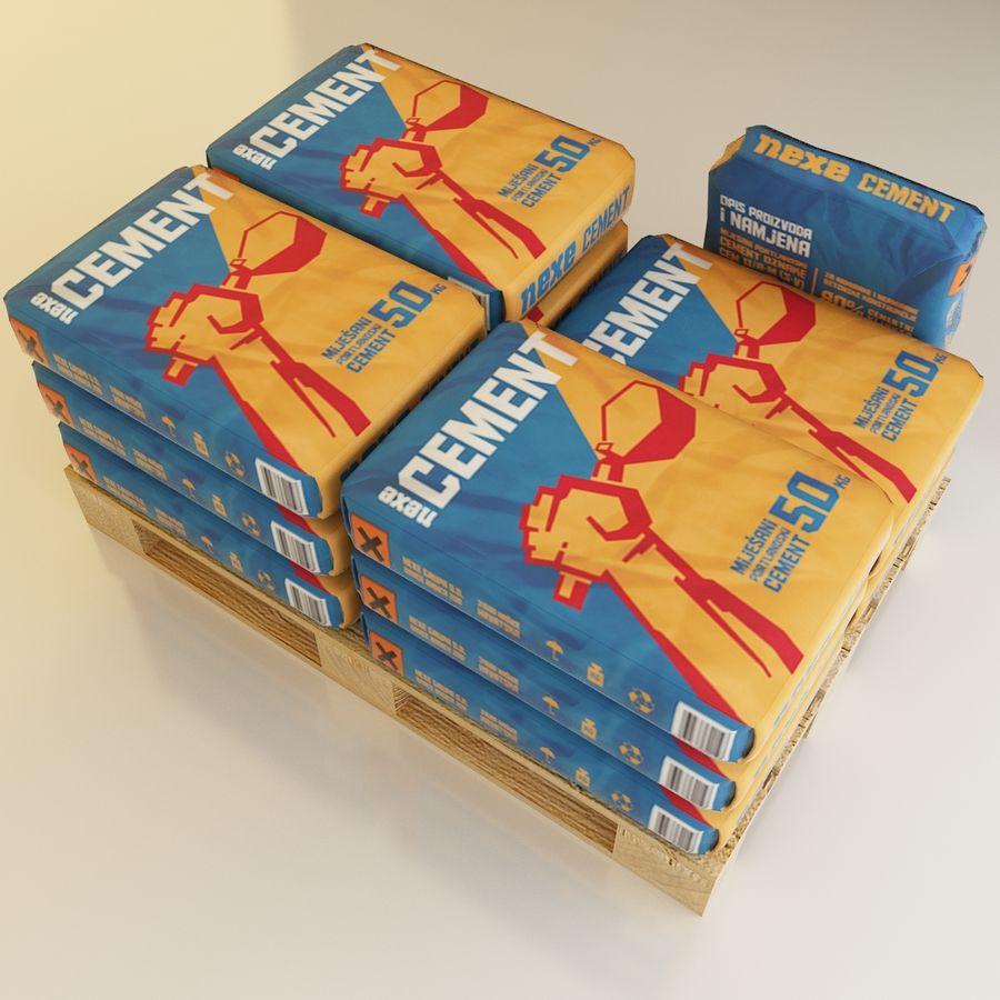 Sacchi di cemento su pallet royalty-free 3d model - Preview no. 3