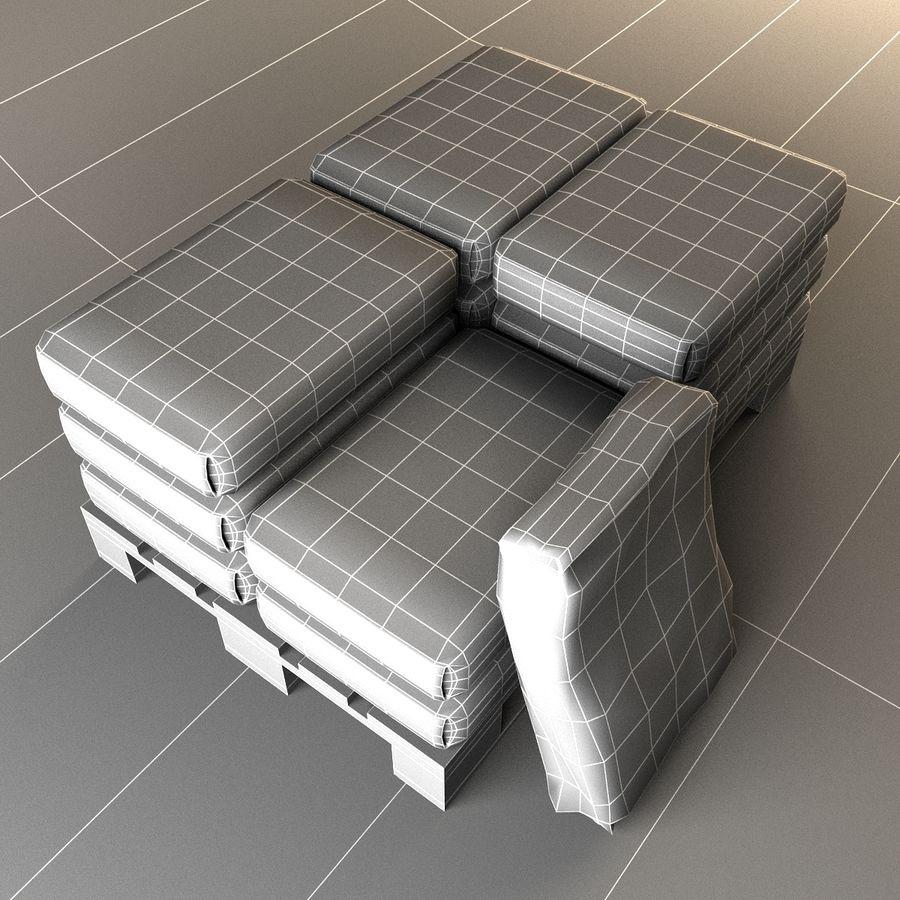 Sacchi di cemento su pallet royalty-free 3d model - Preview no. 12