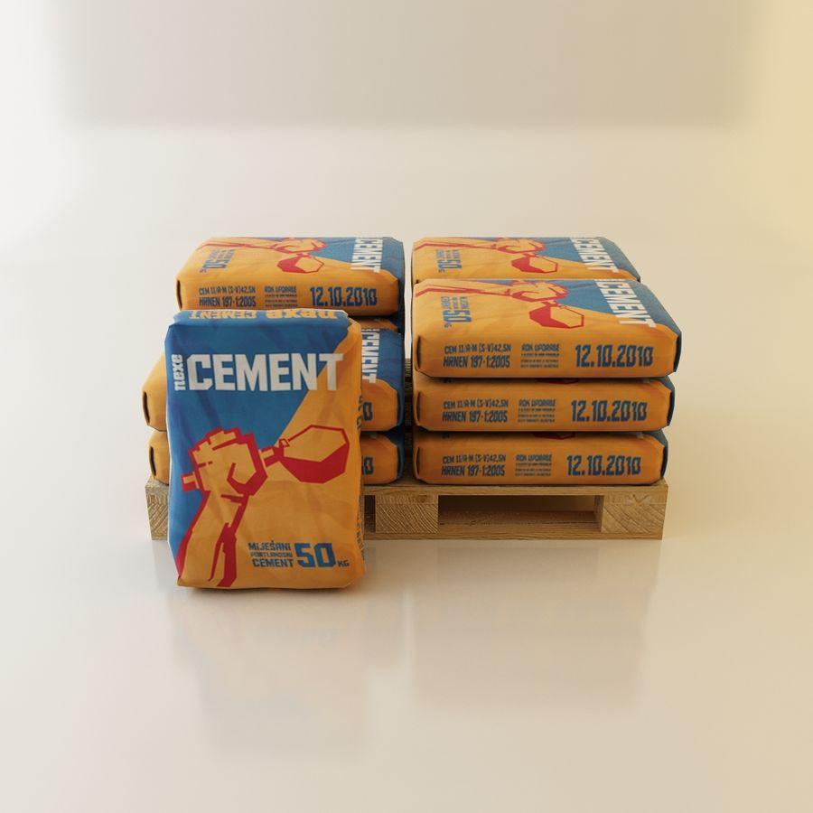 Sacchi di cemento su pallet royalty-free 3d model - Preview no. 1