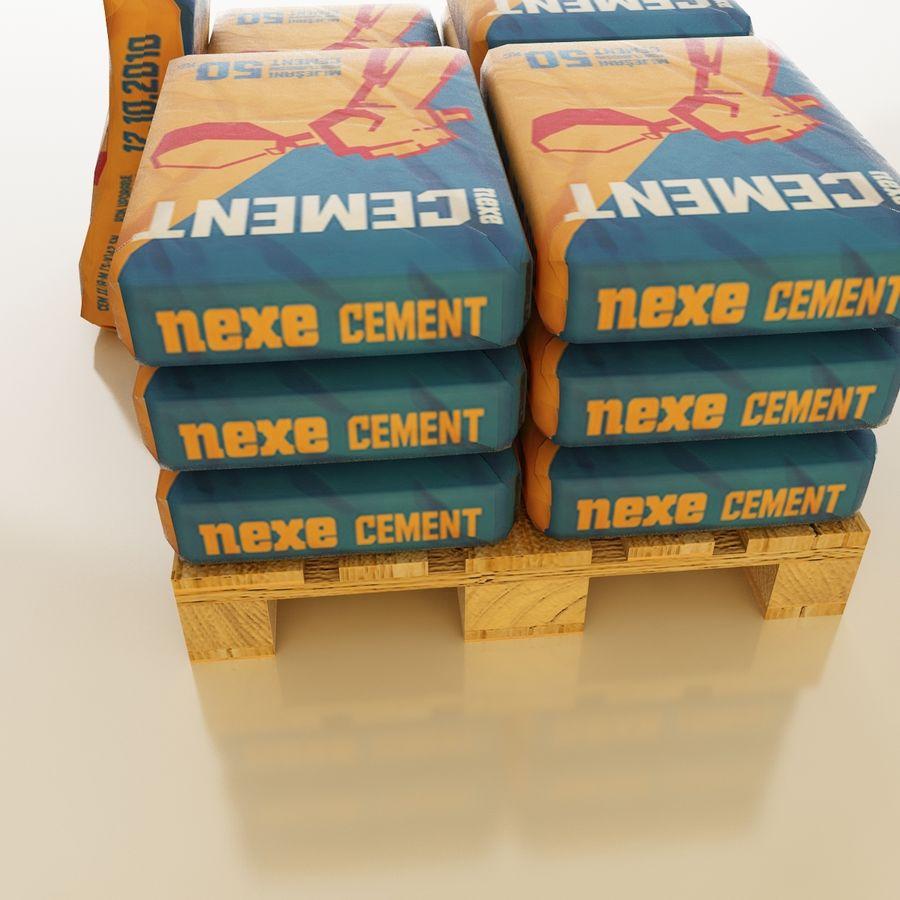 Sacchi di cemento su pallet royalty-free 3d model - Preview no. 9