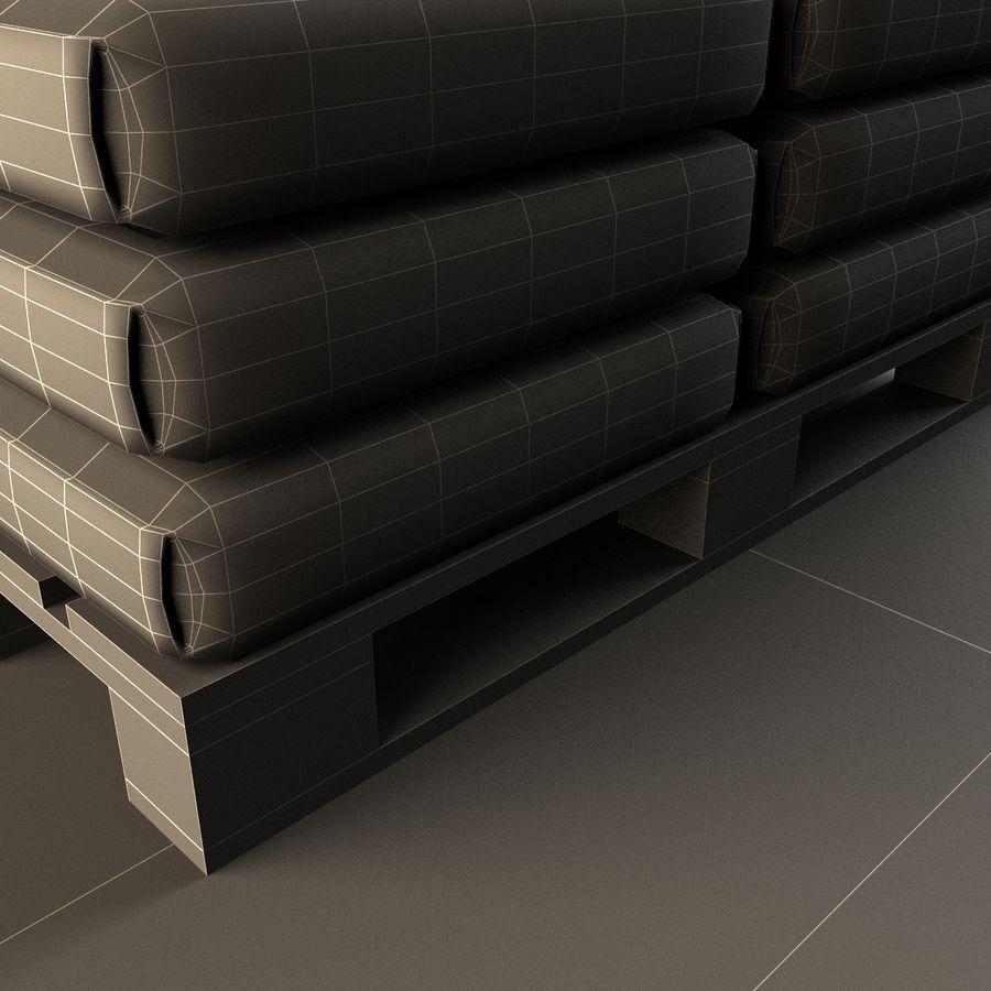Sacchi di cemento su pallet royalty-free 3d model - Preview no. 13