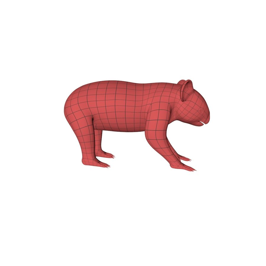 Malha base urso coala royalty-free 3d model - Preview no. 1