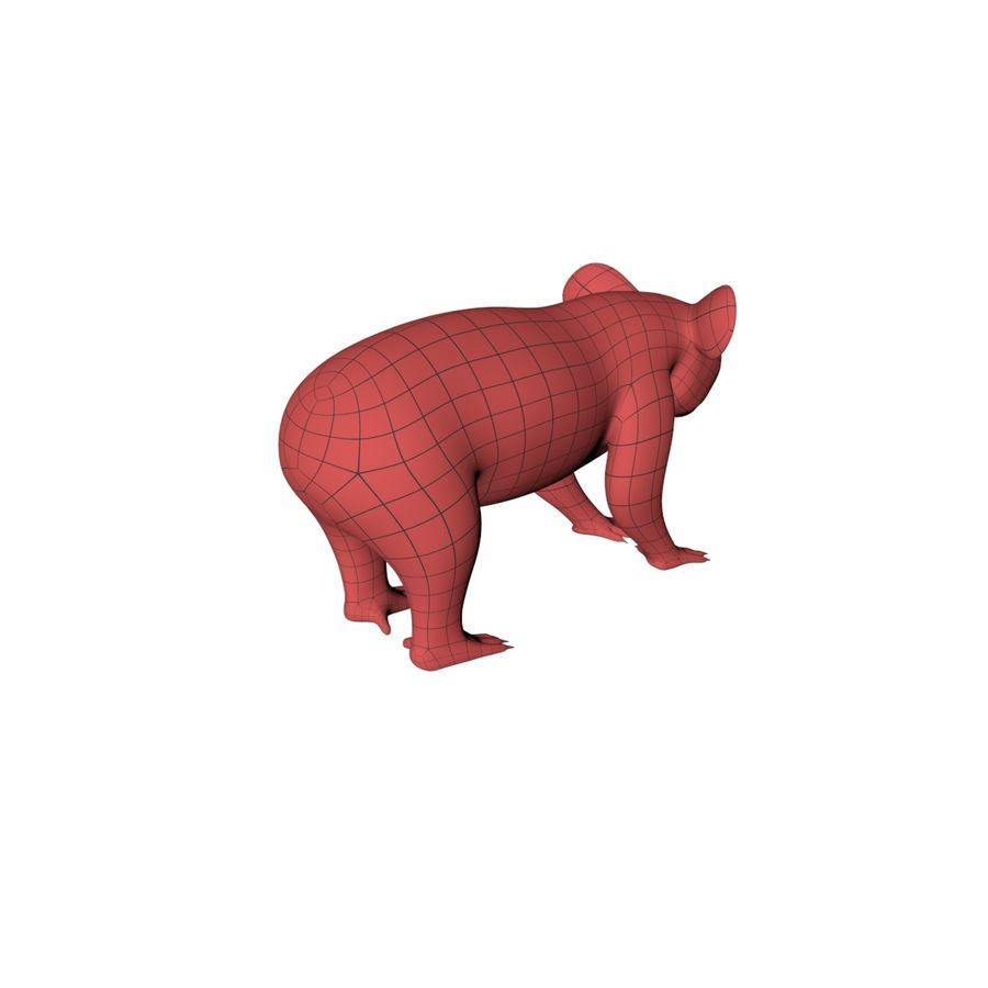 Malha base urso coala royalty-free 3d model - Preview no. 7