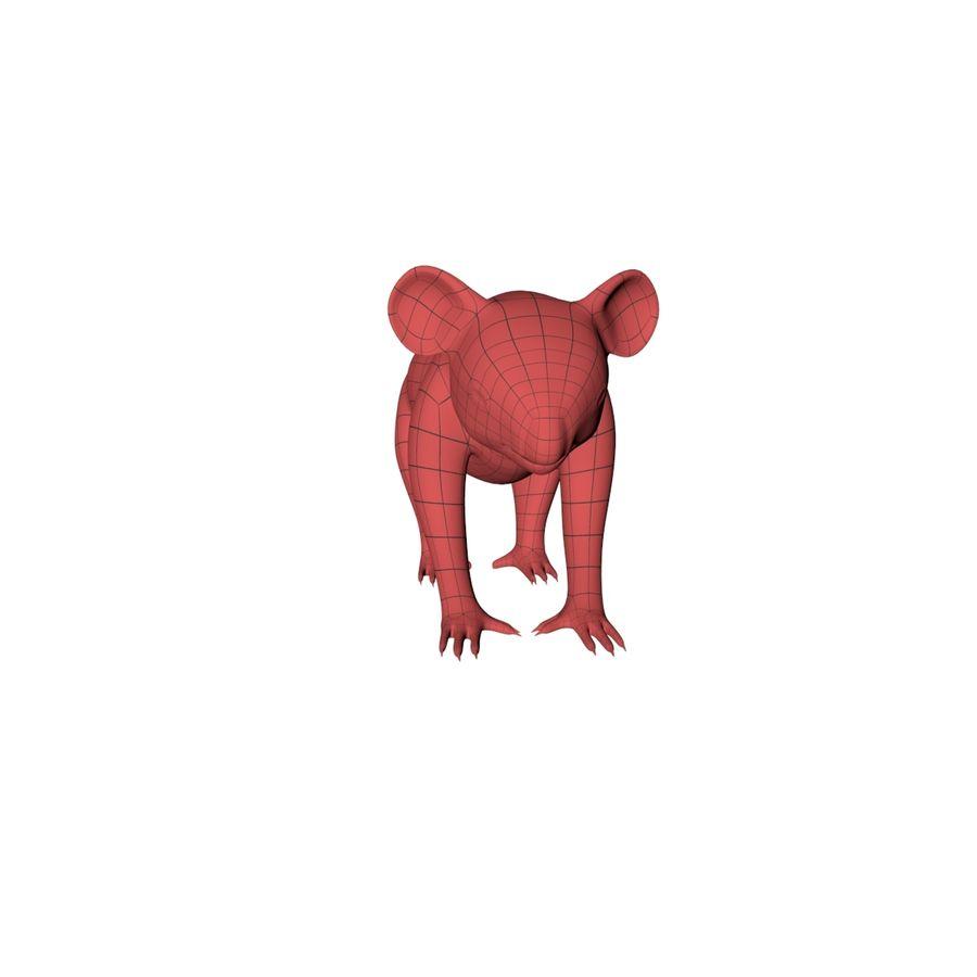 Malha base urso coala royalty-free 3d model - Preview no. 4