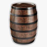 桶3D模型 3d model