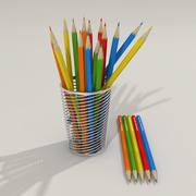 Crayons de couleur 3d model
