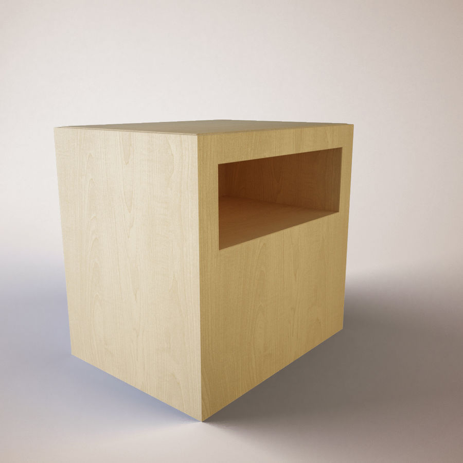 Ikea Bedside Table royalty-free 3d model - Preview no. 4