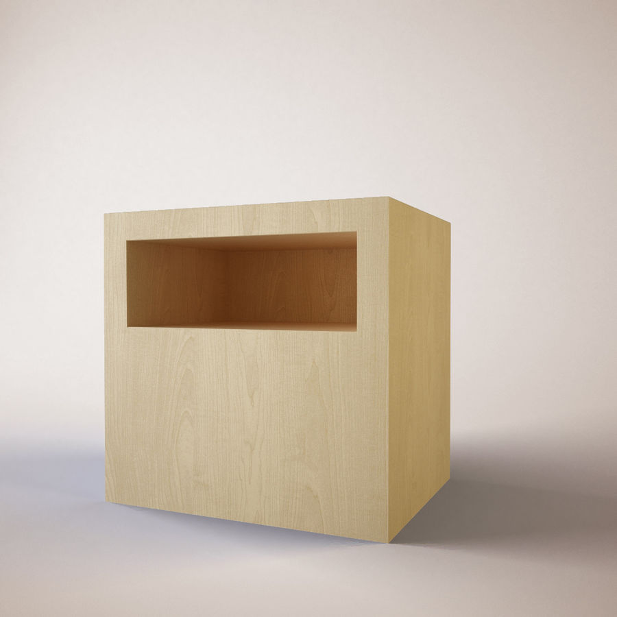 Ikea Bedside Table royalty-free 3d model - Preview no. 3
