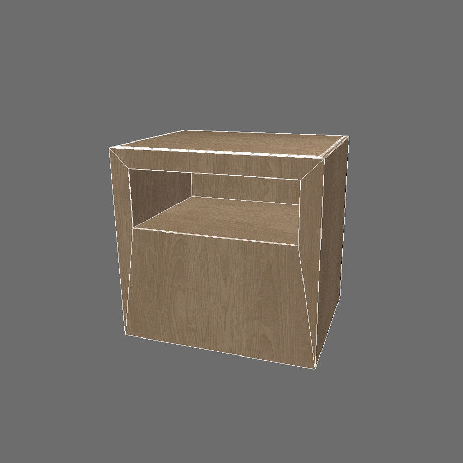 Ikea Bedside Table royalty-free 3d model - Preview no. 5