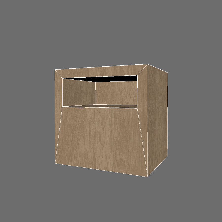 Ikea Bedside Table royalty-free 3d model - Preview no. 7