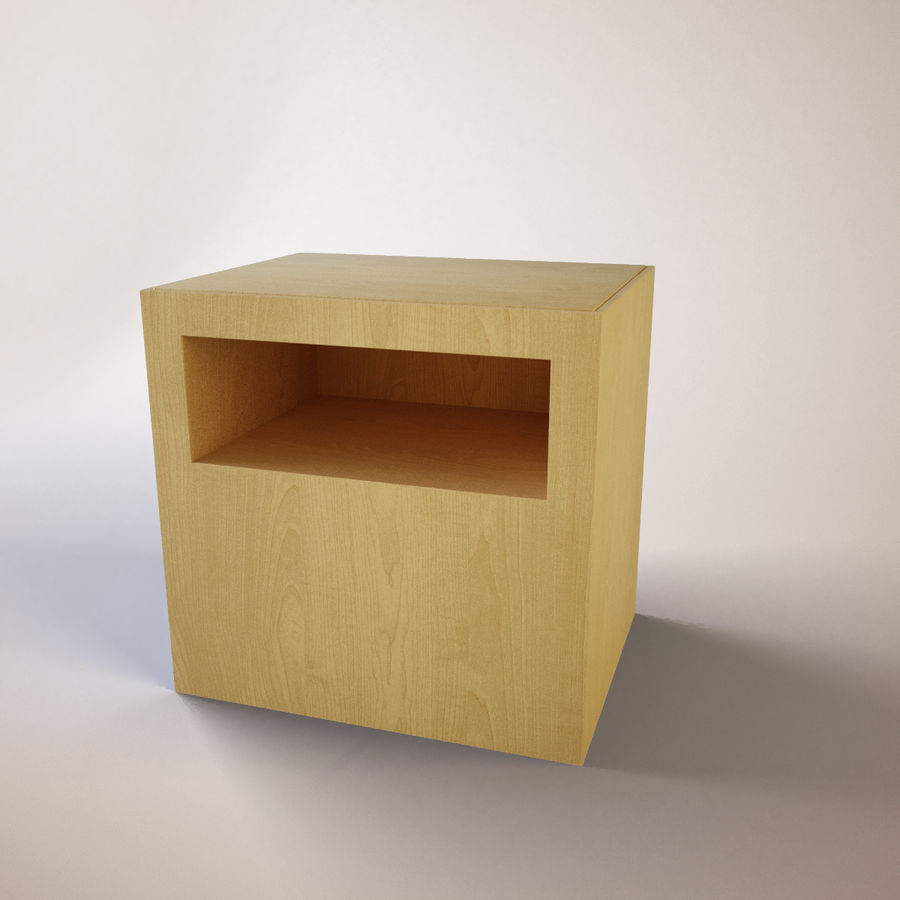 Ikea Bedside Table royalty-free 3d model - Preview no. 1