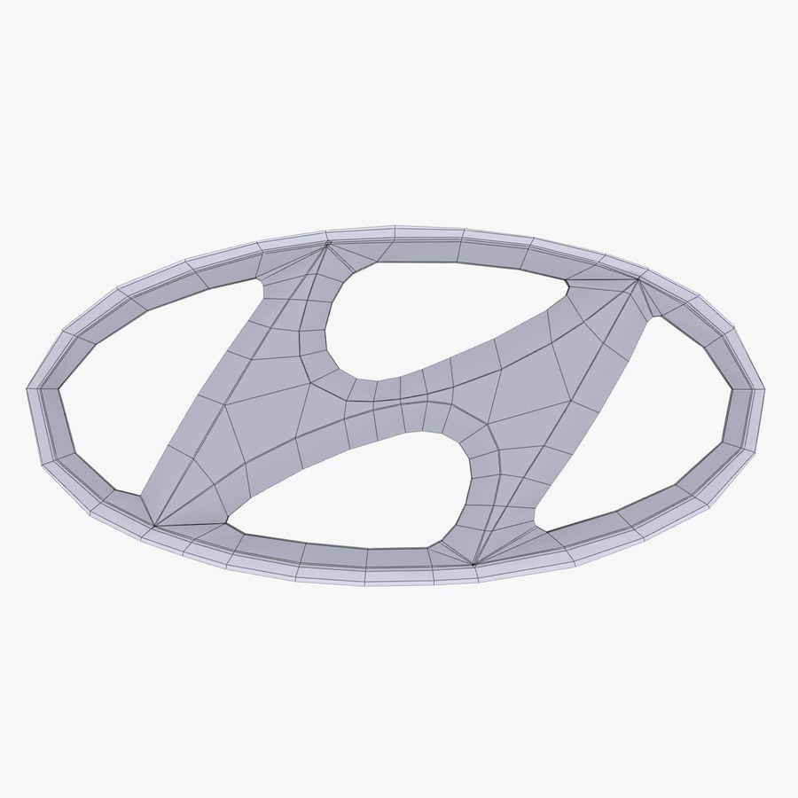 ロゴ付きヒュンダイ合金 royalty-free 3d model - Preview no. 3