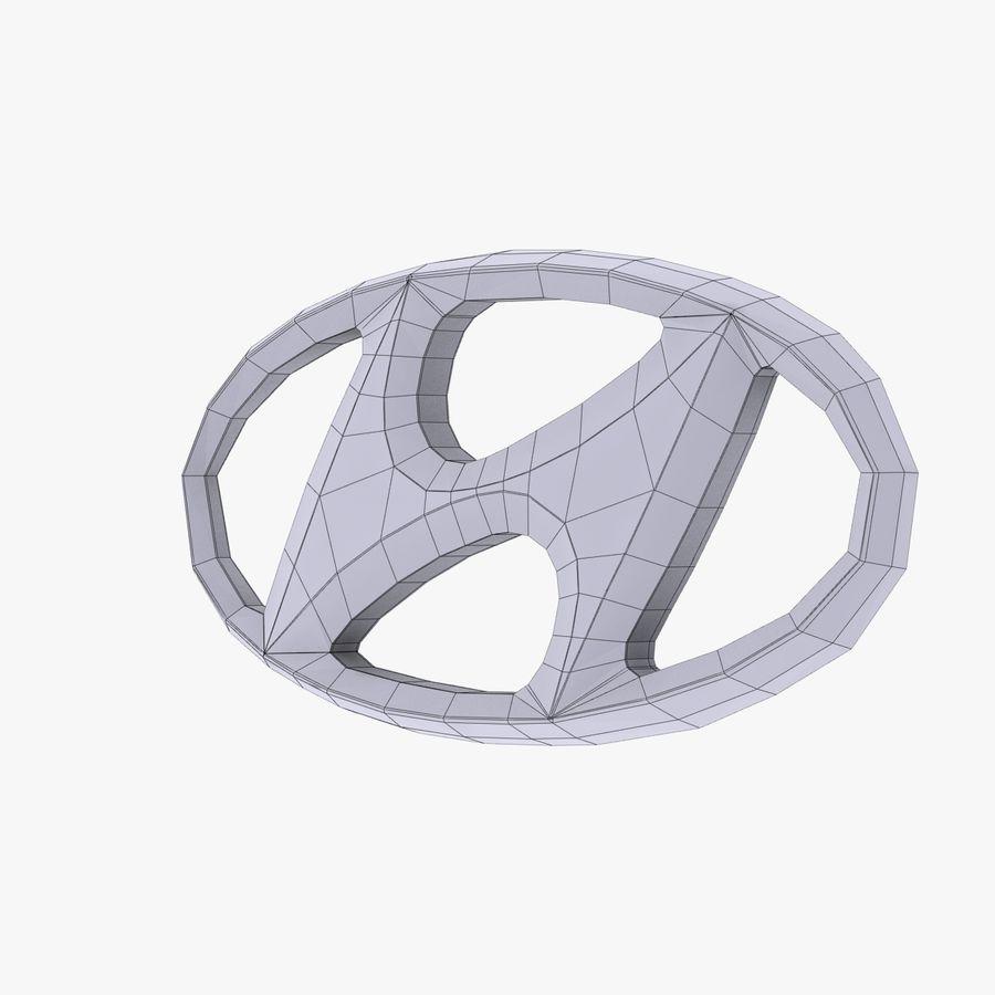 ロゴ付きヒュンダイ合金 royalty-free 3d model - Preview no. 7