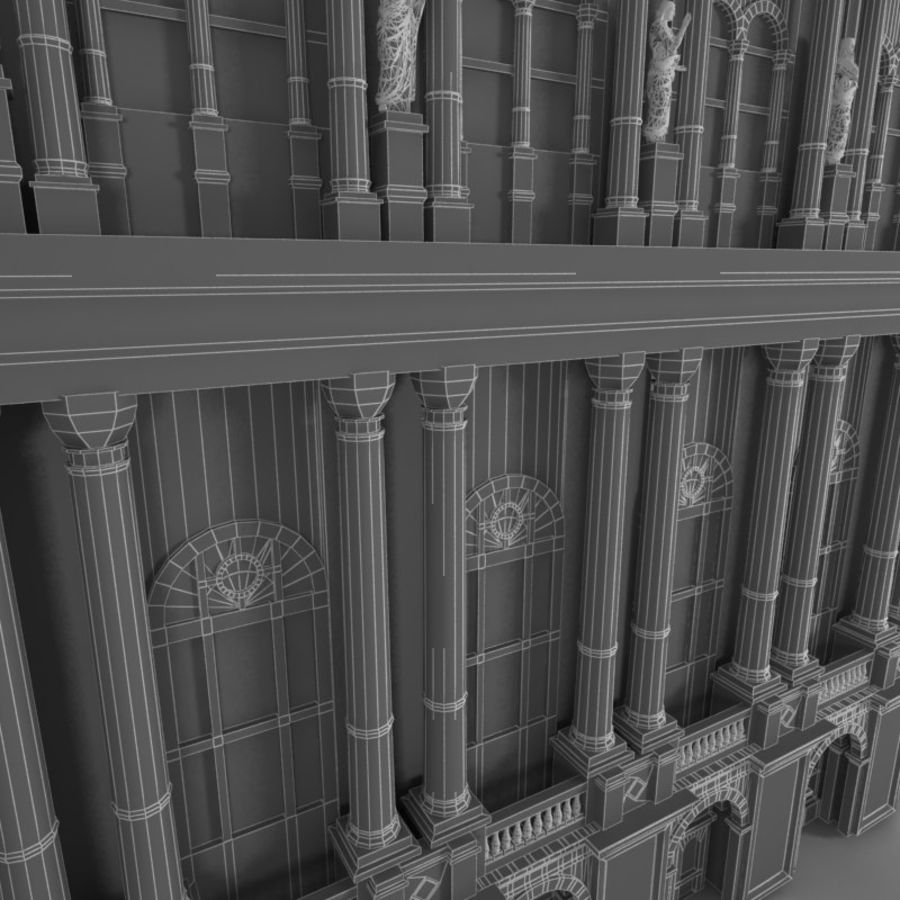 Building Front royalty-free 3d model - Preview no. 5