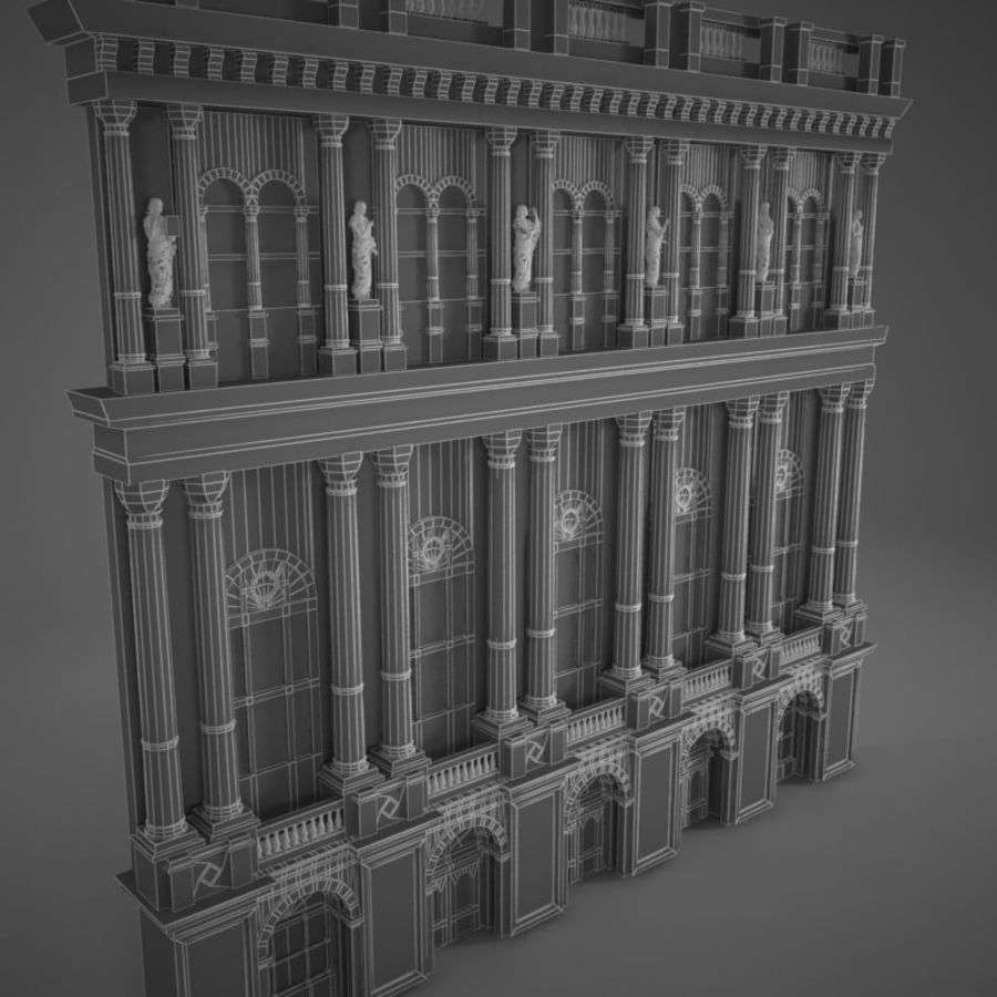 Building Front royalty-free 3d model - Preview no. 8