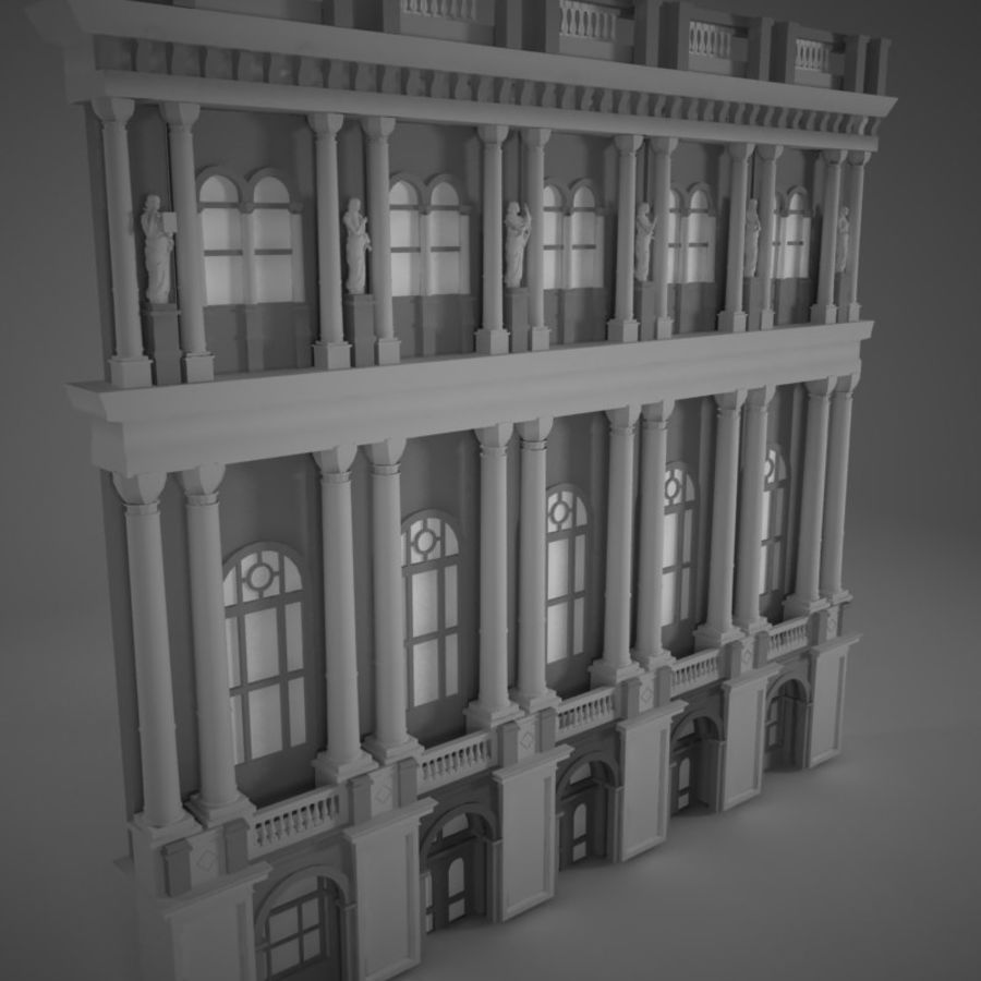Building Front royalty-free 3d model - Preview no. 7