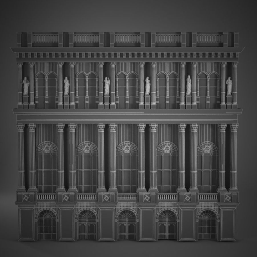 Building Front royalty-free 3d model - Preview no. 6