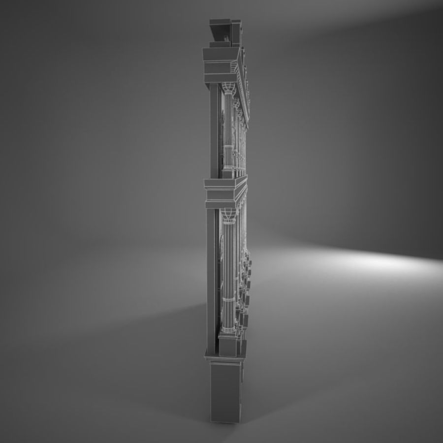 Building Front royalty-free 3d model - Preview no. 10