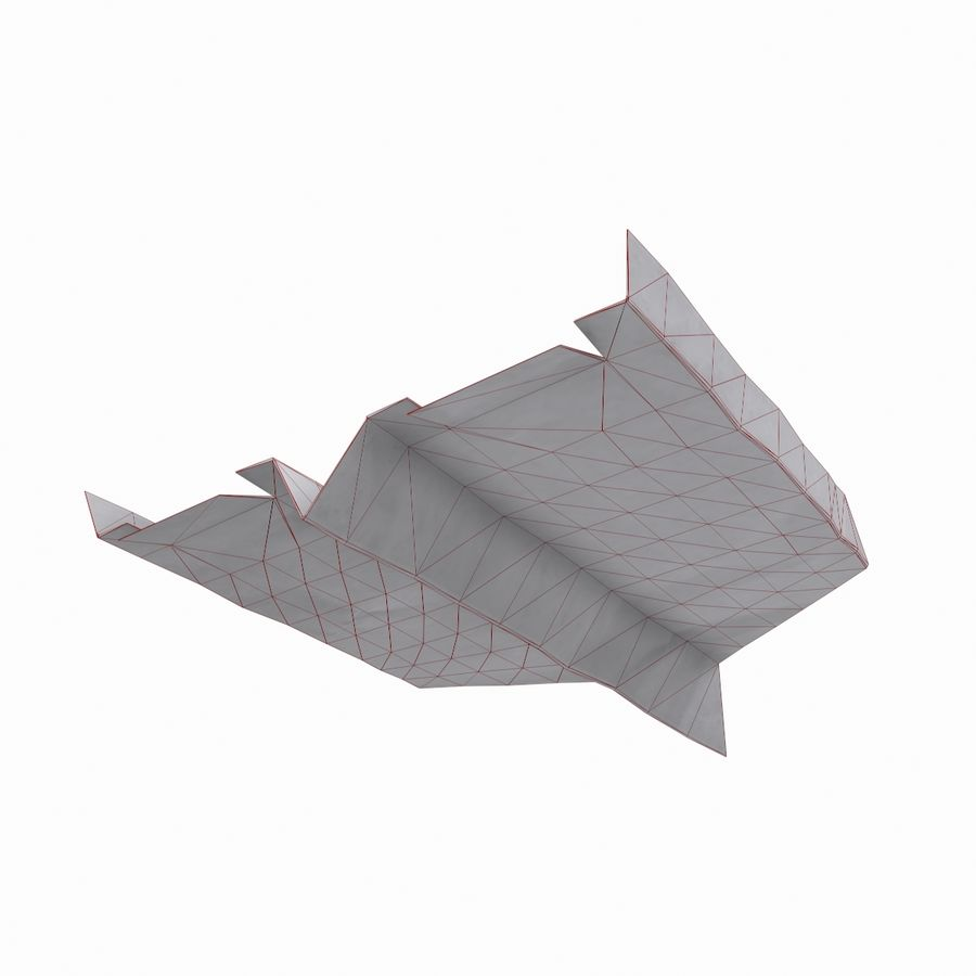 Avião de papel royalty-free 3d model - Preview no. 8