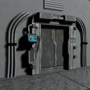 sci fi door 3d model