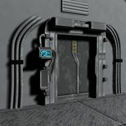 sci fi dörr 3d model