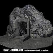вход в пещеру, низкополигональная 3d model