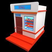 Stall Shop 3d model