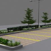 terrain de stationnement 3d model