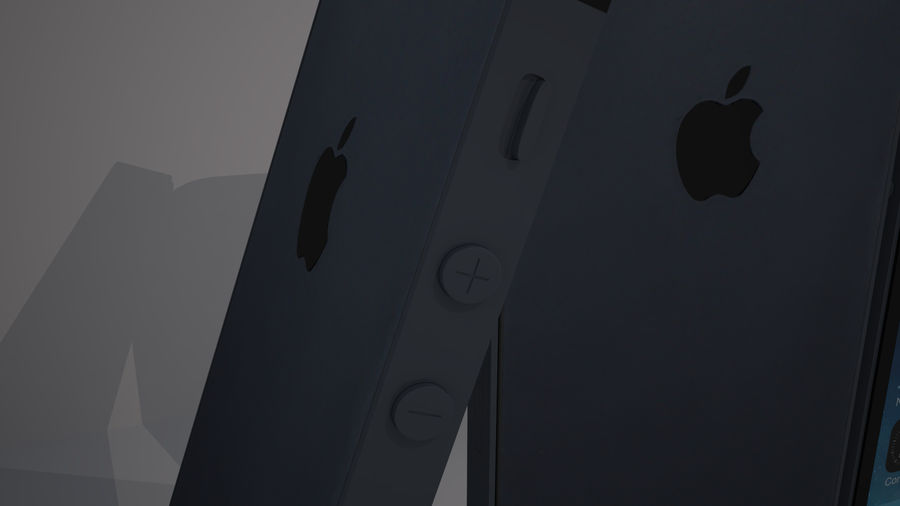 iPhone 5S royalty-free 3d model - Preview no. 9