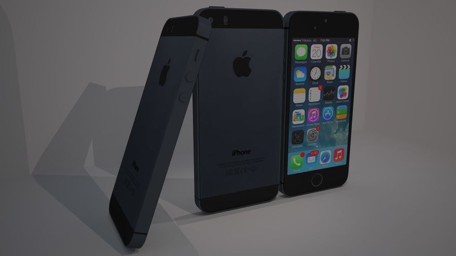 Iphone 5s royalty-free 3d model - Preview no. 3