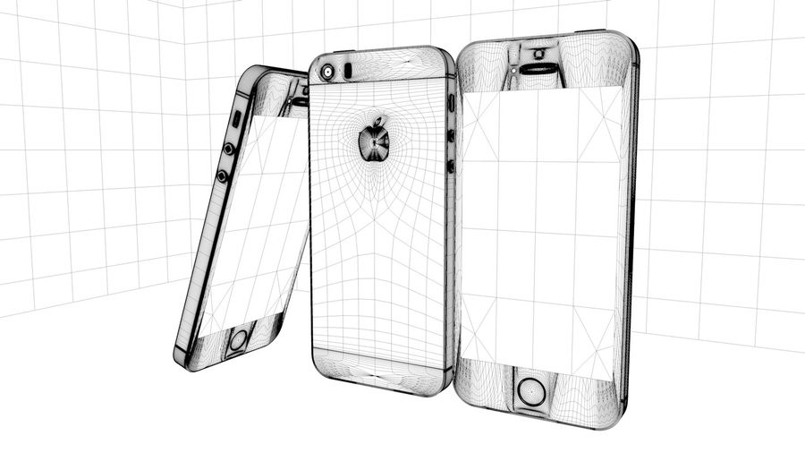 Iphone 5s royalty-free 3d model - Preview no. 2