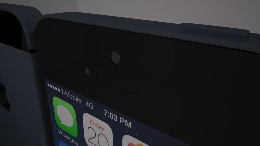 Iphone 5s royalty-free 3d model - Preview no. 7